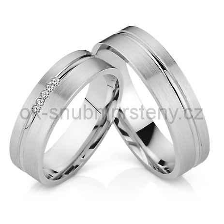 Snubní prsteny z chirurgické oceli OC1032B