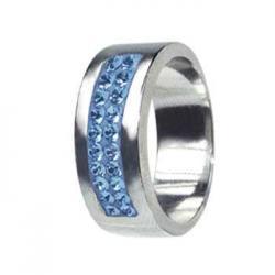 Prsten RSSW01 light sapphire s krystaly Swarovski Elements