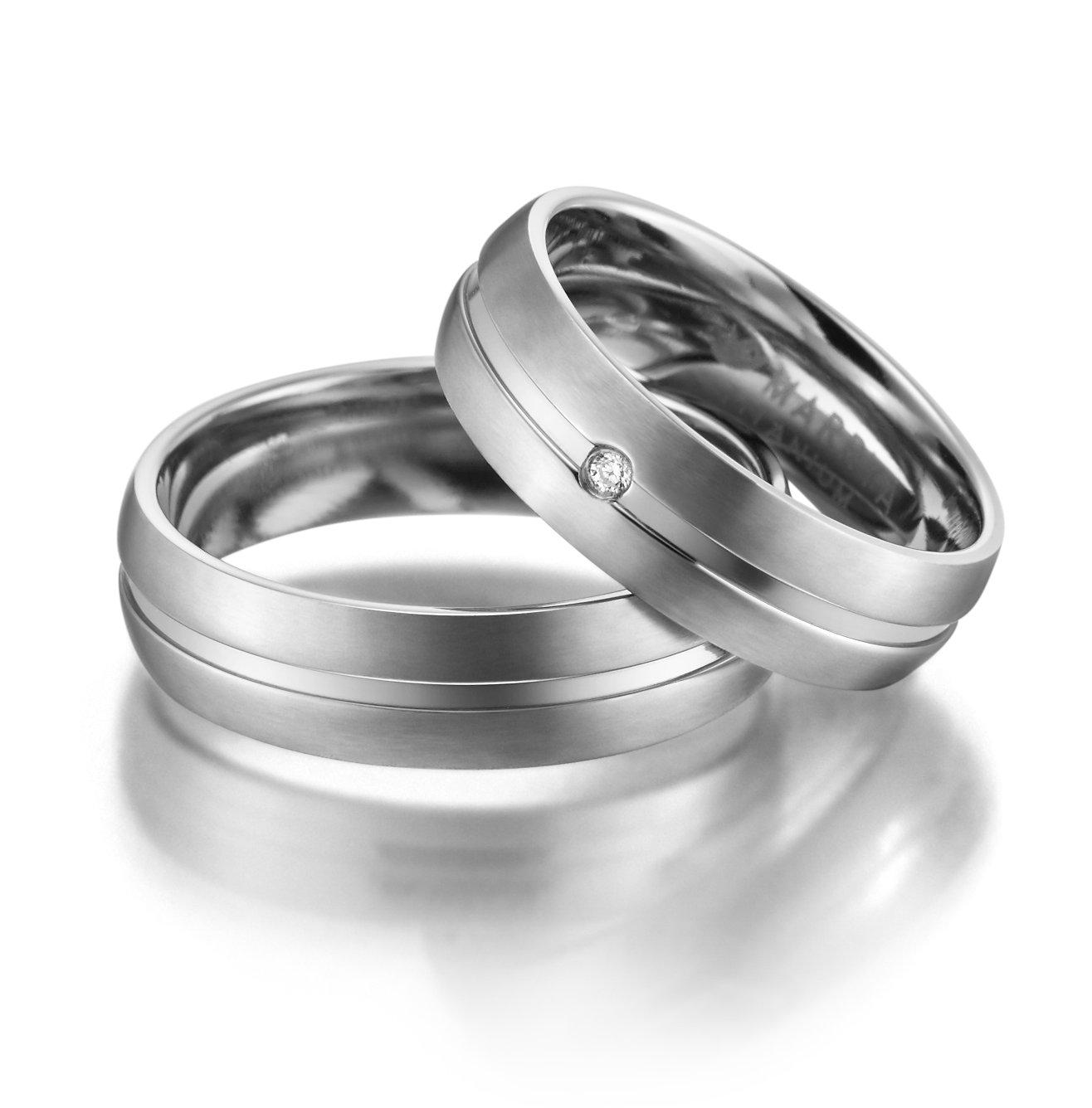 Titanové snubní prsteny TI-02