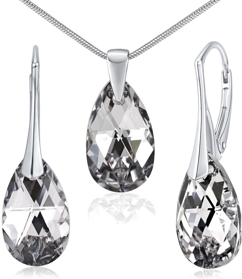 Stříbrná souprava se Swarovski Crystals LSW181
