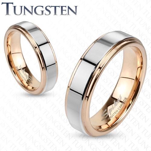 Wolframové snubní prsteny 1 pár HWRTU182