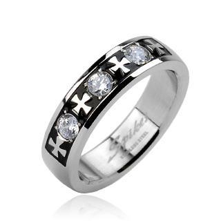 Prsten z chirurgické oceli R-H1623
