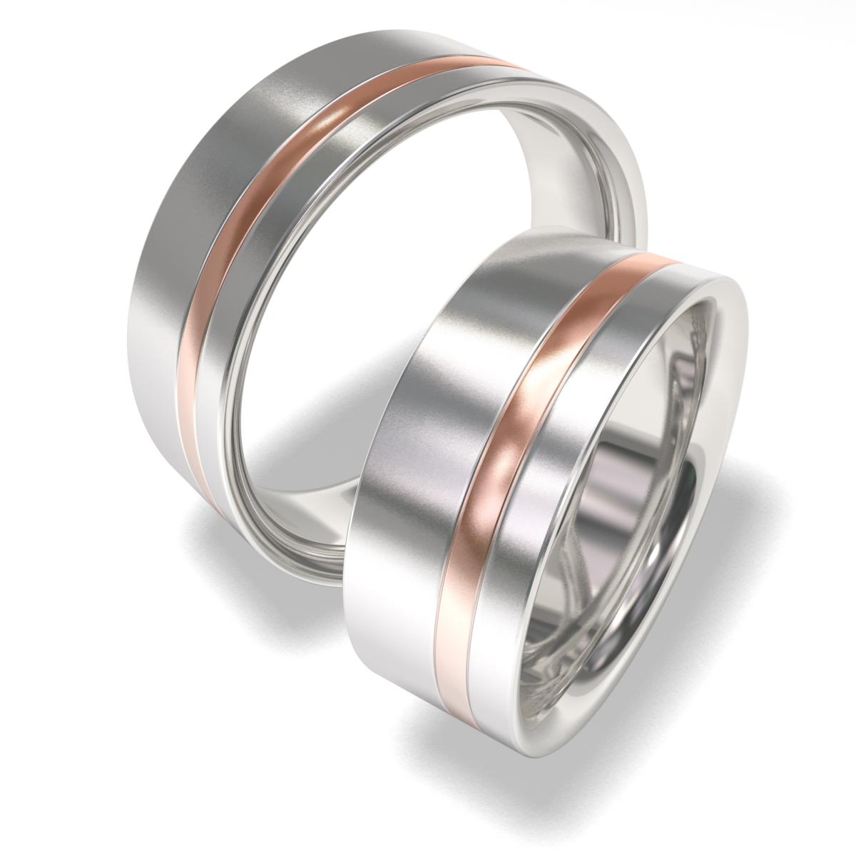 Luxusní Ocelové snubní prsteny 7090 (Luxusní Ocelové snubní prsteny 7090)