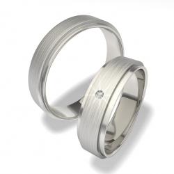 Luxusní snubní prsteny z chirurgické oceli 0140200053