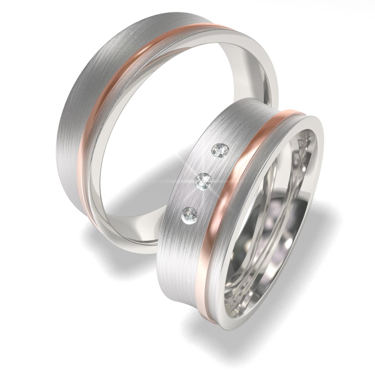Luxusní Ocelové snubní prsteny 7024 (Luxusní Ocelové snubní prsteny 7024)