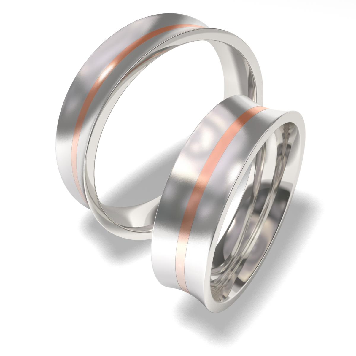 Luxusní Ocelové snubní prsteny 7087 (Luxusní Ocelové snubní prsteny 7087)