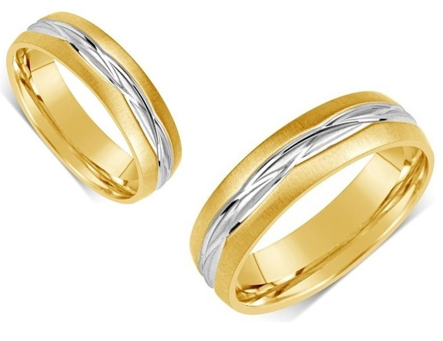 Snubní prsteny z chirurgické oceli R-H0910
