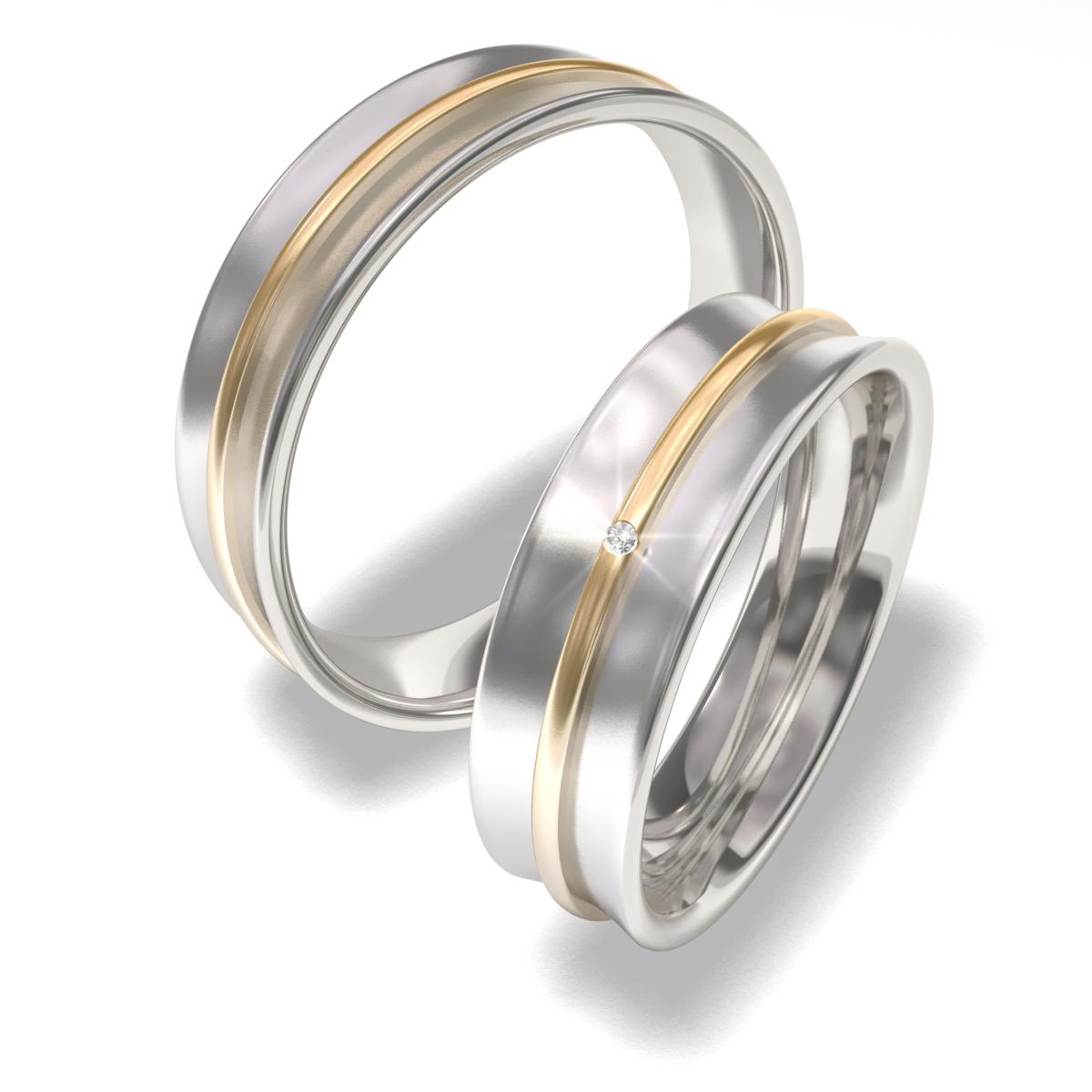 Luxusní Ocelové snubní prsteny 7091 (Luxusní Ocelové snubní prsteny 7091)