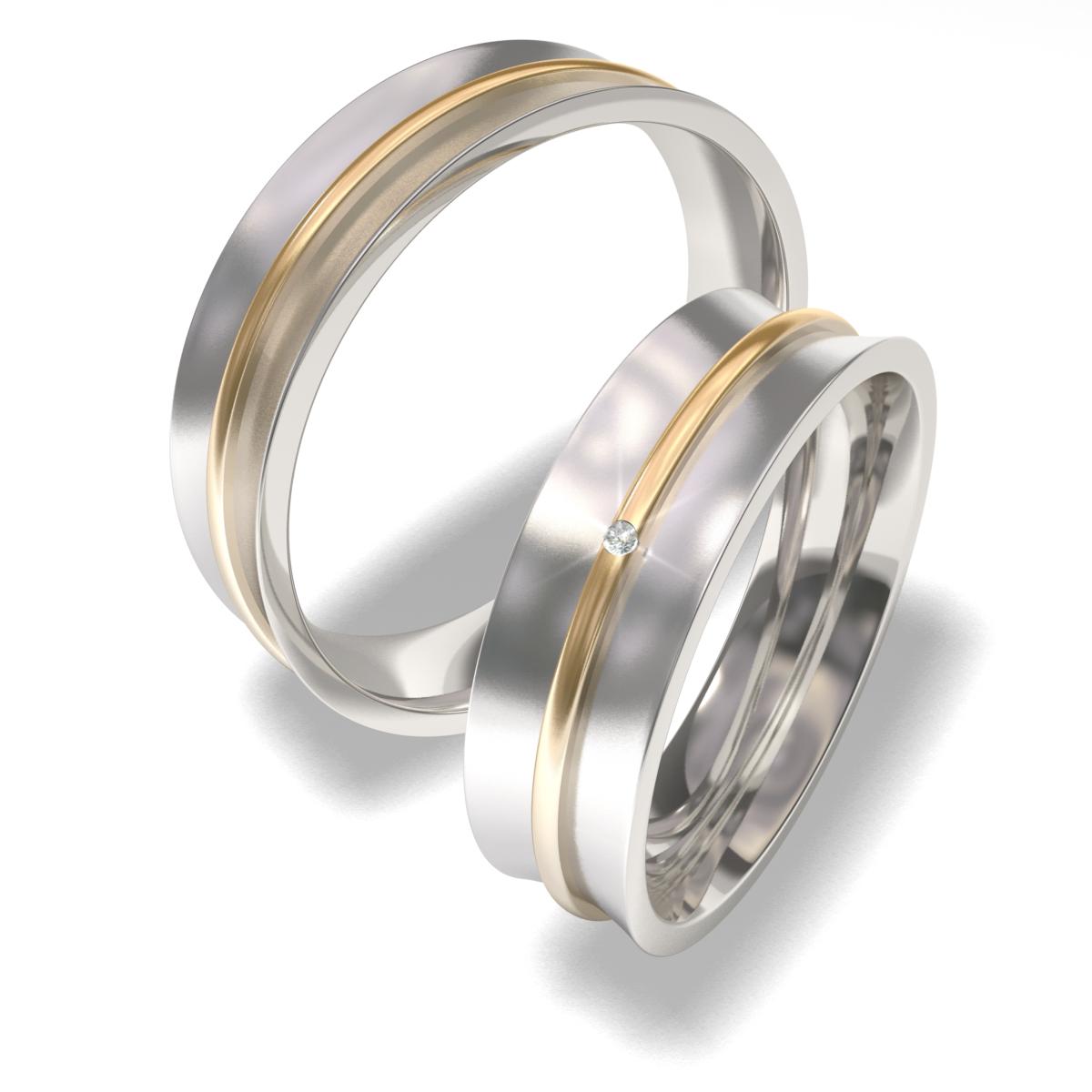 Luxusní Ocelové snubní prsteny 7091-3 (Luxusní Ocelové snubní prsteny 7091-3)
