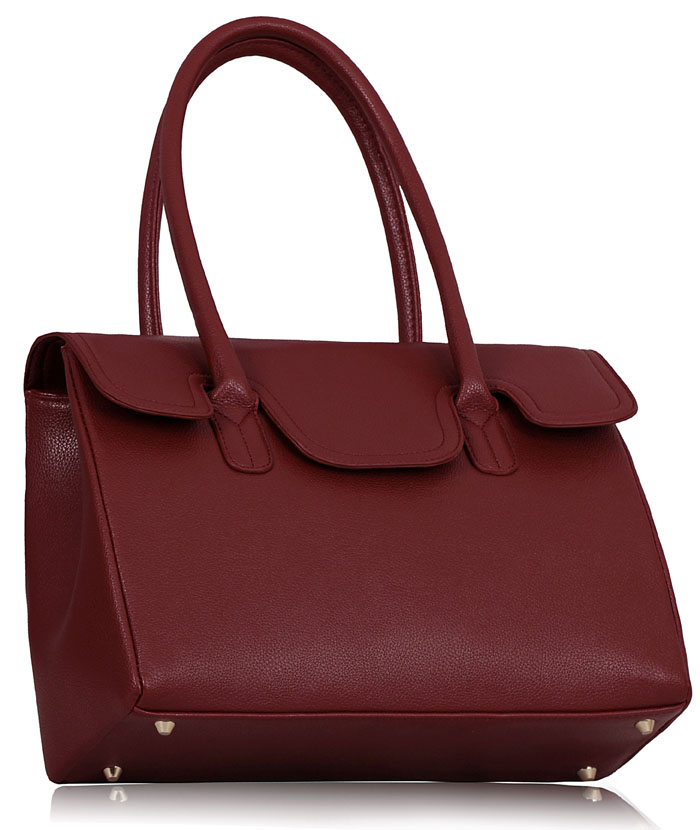Kabelka LS0047 - LS0047 - Burgundy Ziptop Grab Shoulder Bag