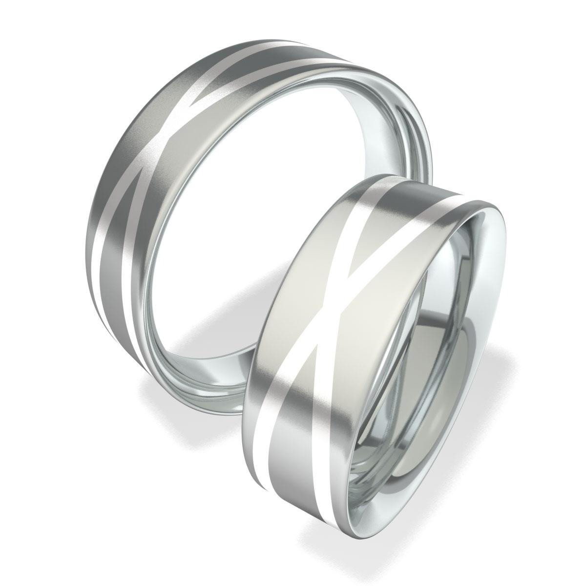 Luxusní Ocelové snubní prsteny 702003 (Luxusní Ocelové snubní prsteny 702003)