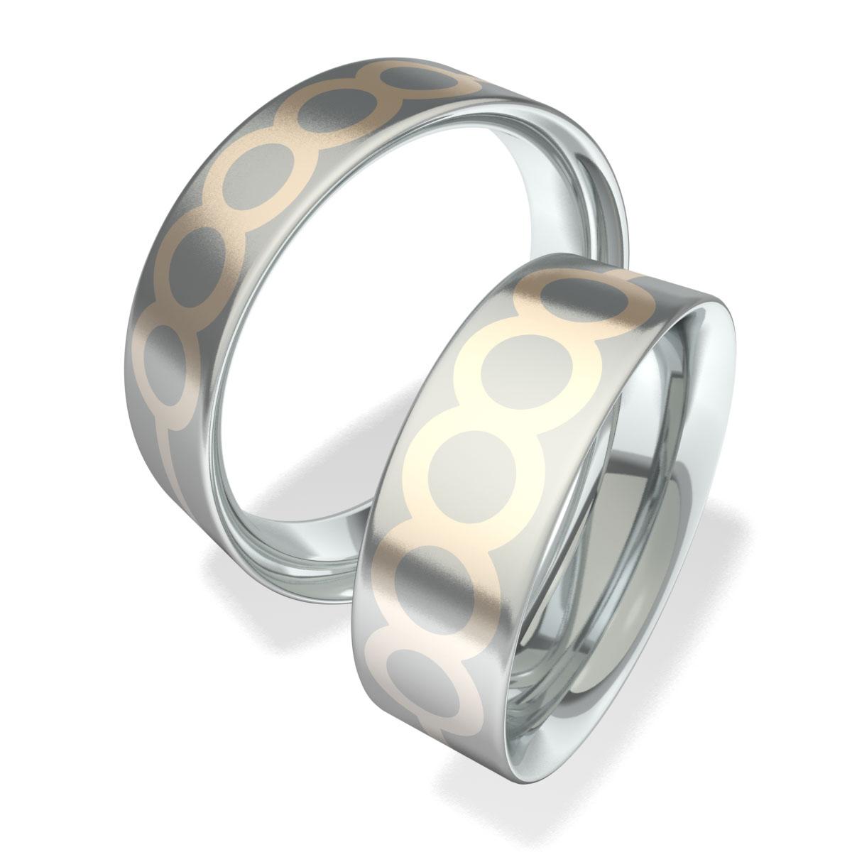 Luxusní Ocelové snubní prsteny 602004 (Luxusní Ocelové snubní prsteny 602004 )