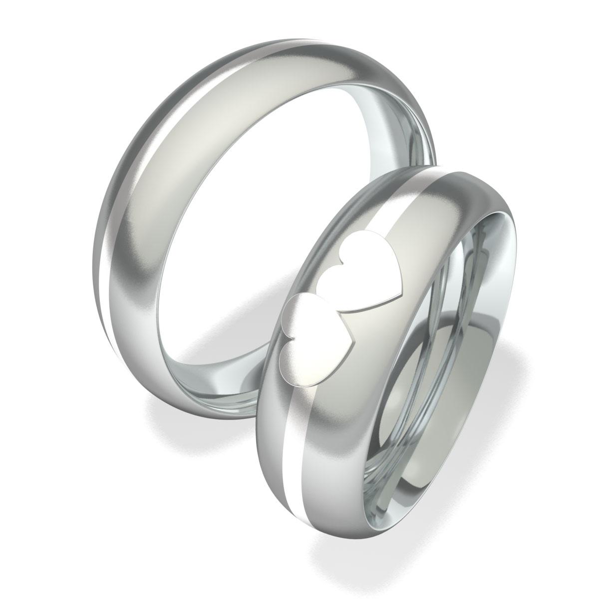 Luxusní Ocelové snubní prsteny 7093 (Luxusní Ocelové snubní prsteny 7093)