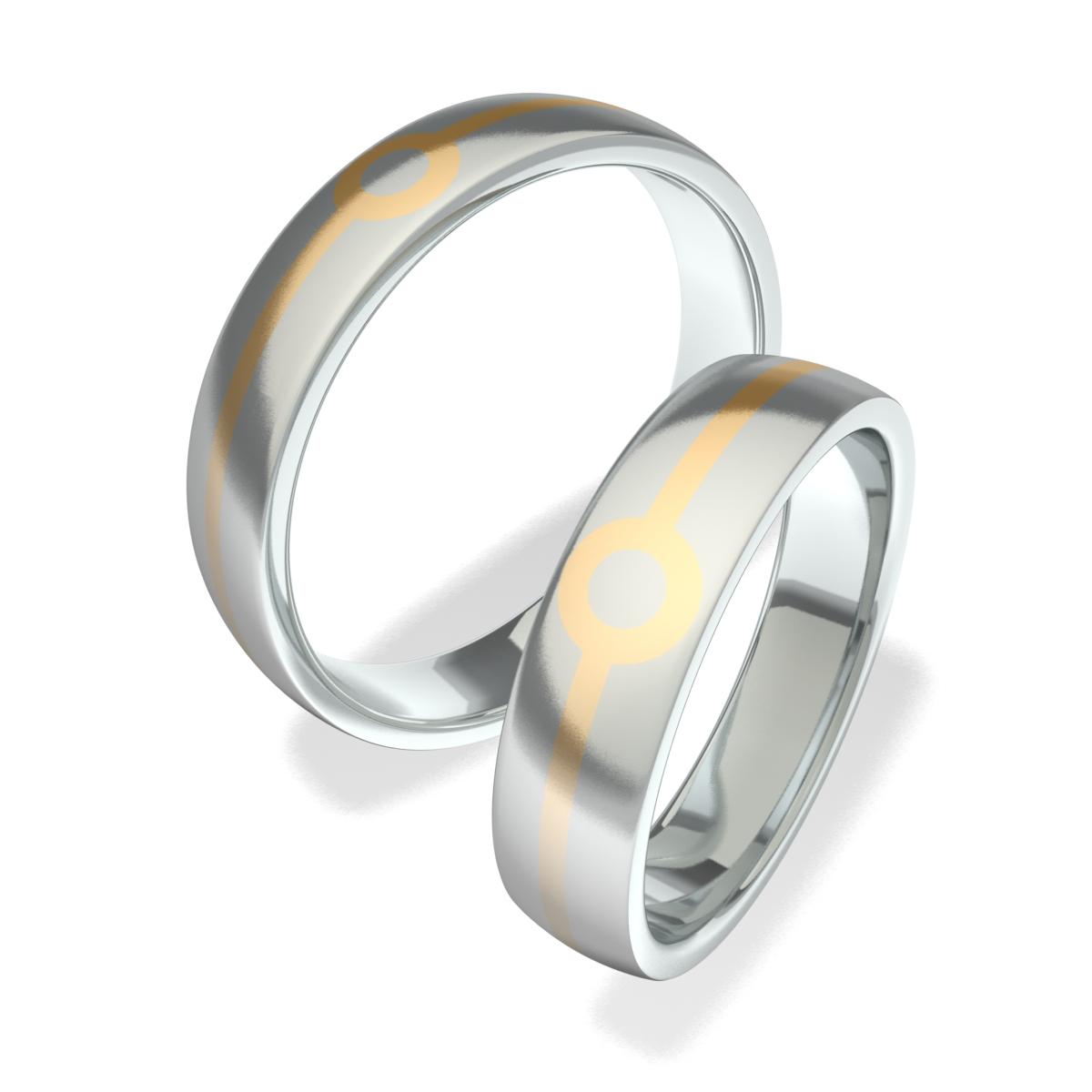 Luxusní Ocelové snubní prsteny 602007 (Luxusní Ocelové snubní prsteny 602007 )