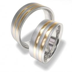 Luxusní Ocelové snubní prsteny 7086 (Luxusní Ocelové snubní prsteny 7086)