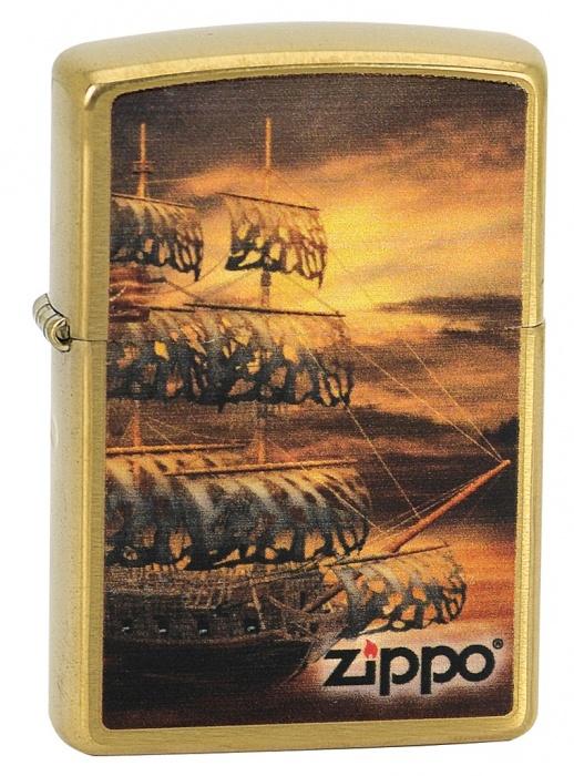 Benzínový zapalovač Zippo Pirate Ship 23060 (Benzín Zdarma)