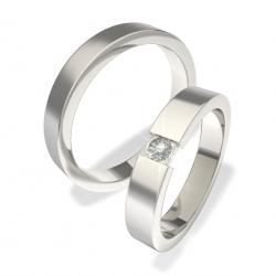 Luxusní Ocelové snubní prsteny 0140202005 (Luxusní Ocelové snubní prsteny 0140202005)