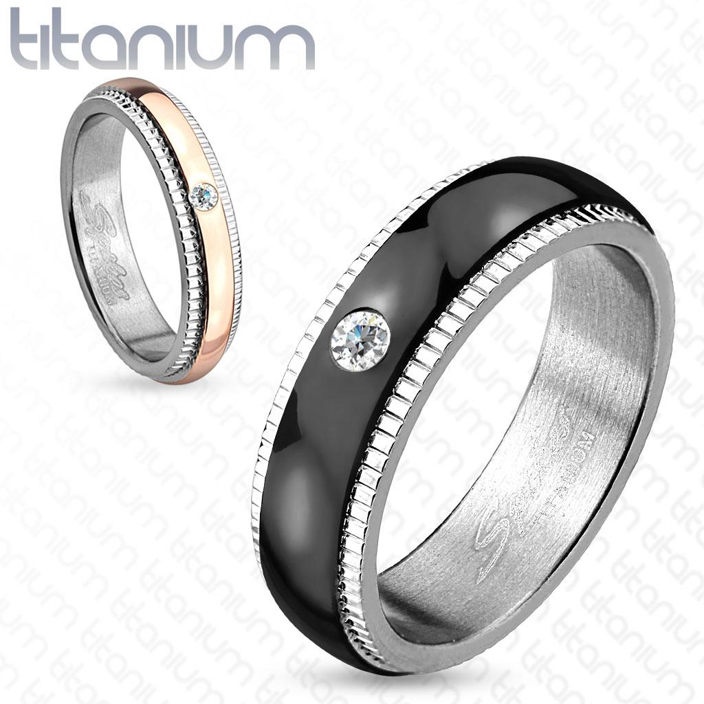 Titanové snubní prsteny R-TI-4403