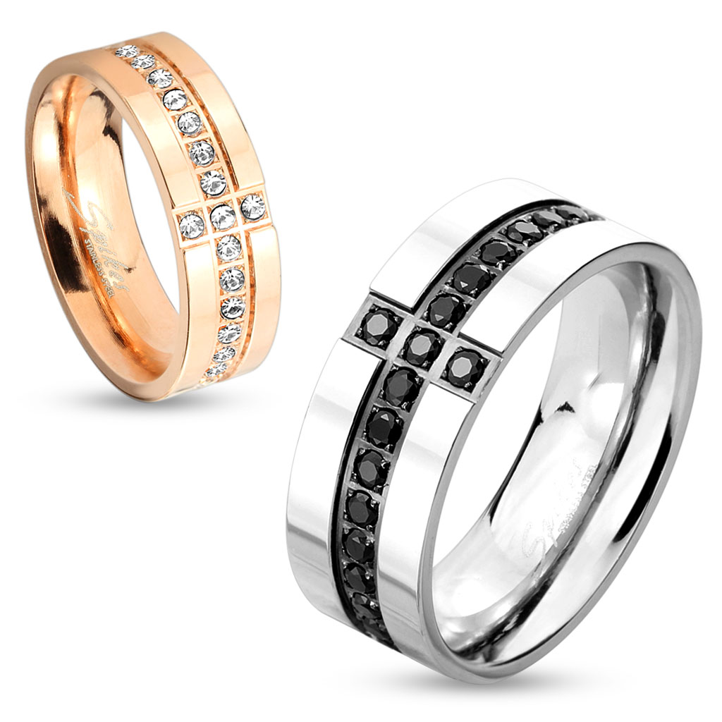 Snubní prsteny z chirurgické oceli R-M4308