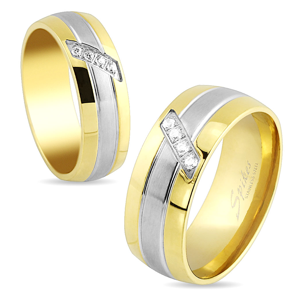 Snubní prsteny chirurgická ocel R-S1532