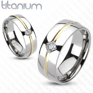 Snubní Titanové prsteny R-TM-3087
