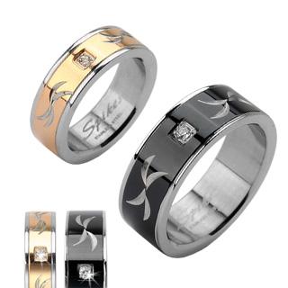 Ocelové snubní prsteny R-H1621 (Ocelové snubní prsteny R-H1621)