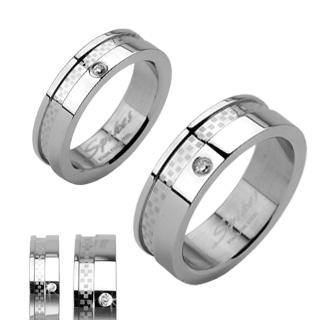 Ocelové snubní prsteny R-H1005 (Ocelové snubní prsteny R-H1005)