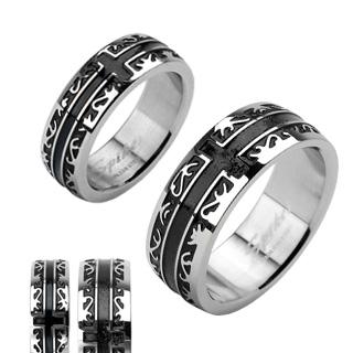 Ocelové snubní prsteny R-H1001