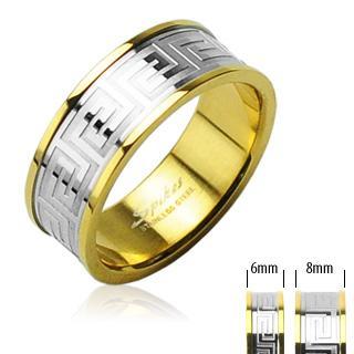 Ocelové snubní prsteny R-H0098 (Ocelové snubní prsteny R-H0098)