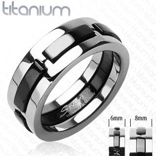 Titanové snubní prsteny PNT-0024 (Titanové snubní prsteny PNT-0024)