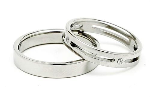 Ocelové snubní prsteny TBR06BR013