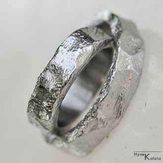 Snubní prsteny kovaná nerezová ocel -RockBG (Snubní prsteny kovaná nerezová ocel -RockBG)