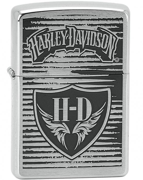 Benzínový zapalovač Zippo Harley-Davidson® 21445 (Benzín Zdarma)