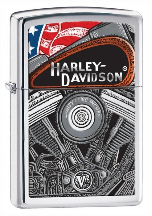 Benzínový zapalovač Zippo Harley-Davidson® 22756 (Benzín Zdarma)