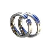 Snubní ocelové prsteny se zirkonem (Snubní ocelové prsteny se zirkonem)