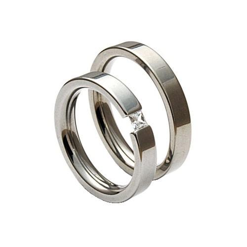 Snubní ocelové prsteny TR406R4 (Snubní ocelové prsteny TR406R4)