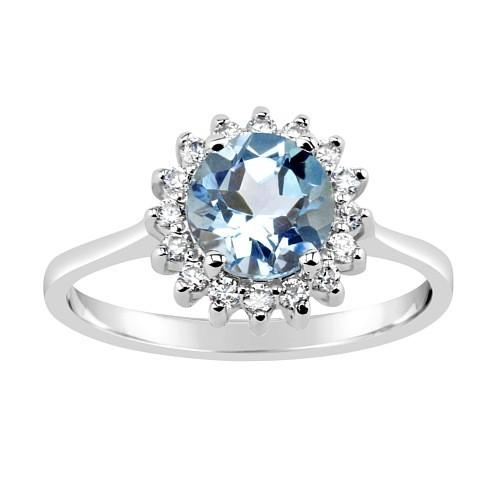 GIO CARATTI prsten ze stříbra s Topazem