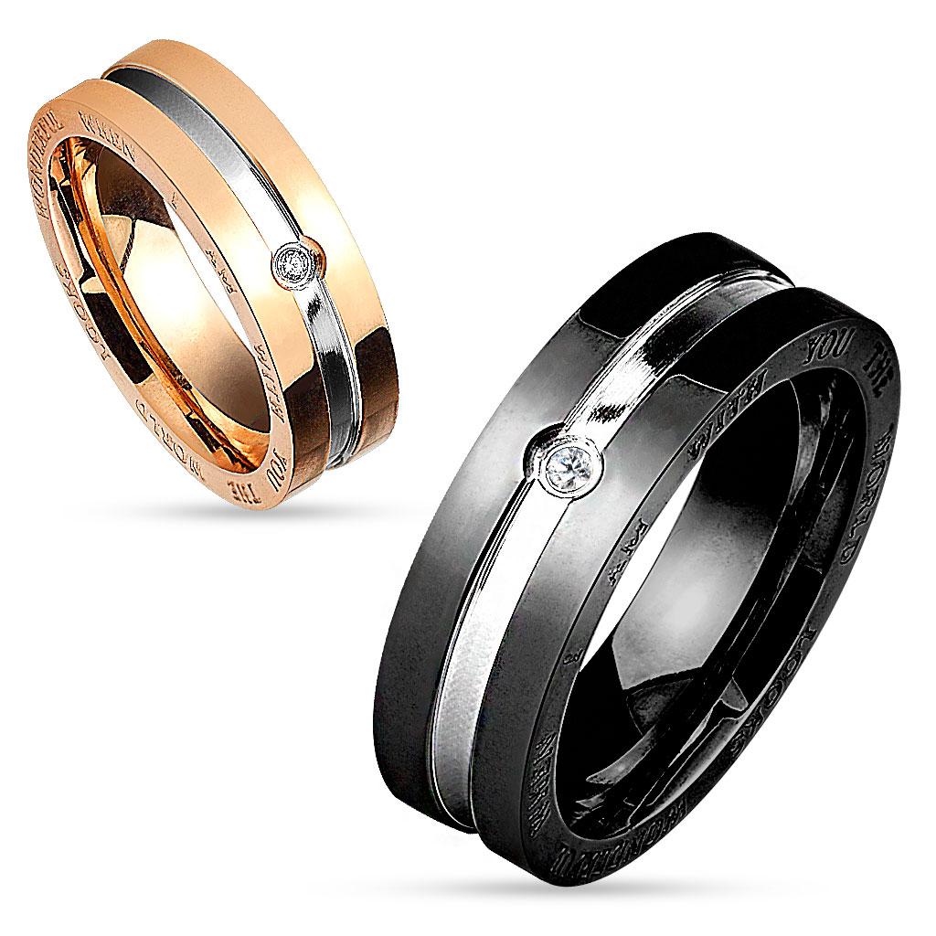 Snubní prsteny z chirurgické ocel R-M4580