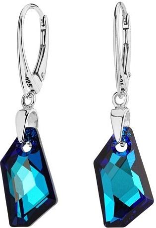 Stříbrné náušnice De-Art Bermuda Blue se SWAROVSKI ELEMENTS - LSW179E