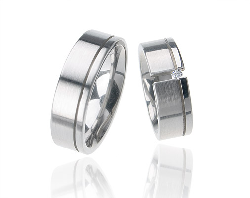 Snubní prsteny z chirurgické oceli OC1119