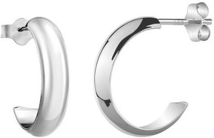 Náušnice stříbrné malé kroužky s puzetovým zapínáním ZTJE22513