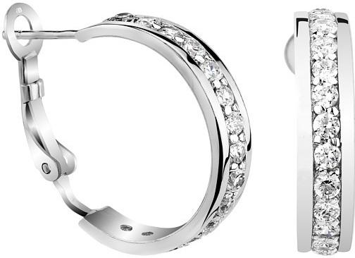 PRIA stříbrné náušnice kruhy se zirkony - TZG42528