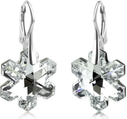 SILVEGO stříbrné náušnice vločka se Swarovski® Crystals 20mm Argent