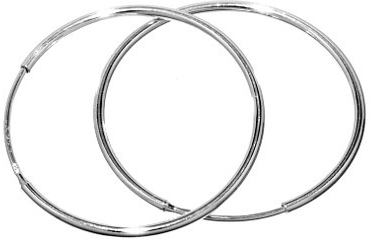 Náušnice stříbrné kruhy BMBE30