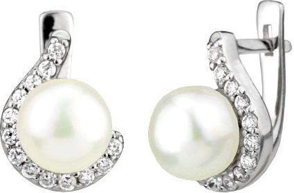 Náušnice stříbrné LISSANDRA s perlou FNJE0346-CZ