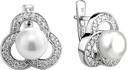 Náušnice dámské ROSETTE ze stříbra FNJE0474-PR
