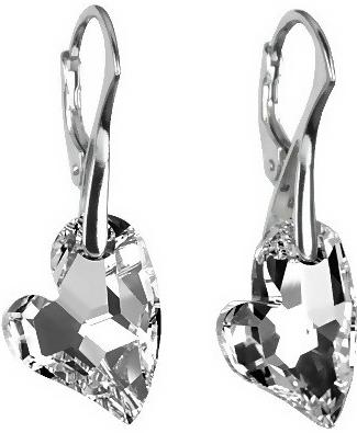 Náušnice stříbrné Argent Heart Swarovski Elements LSW161E