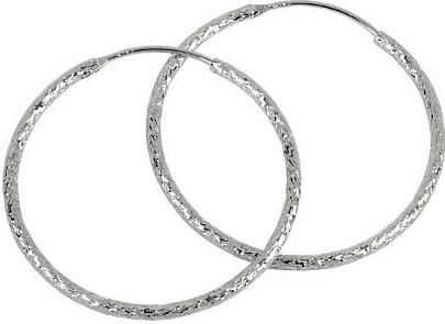 Stříbrné náušnice kruhy SJC00544