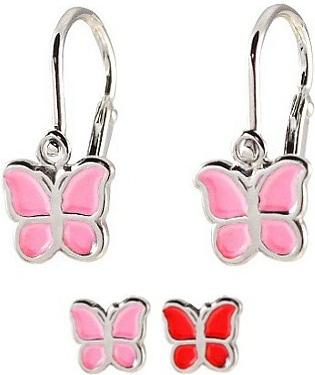 Stříbrné dětské náušnice Motýl BSG70273
