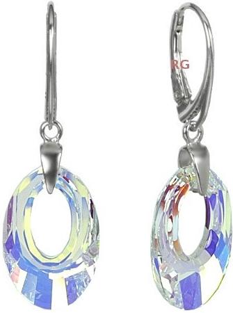 Náušnice stříbrné Helios Pendant Crystal AB Swarovski Elements LSW118E